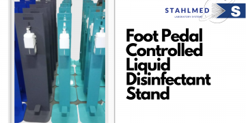 Foot Pedal Controlled Disinfectand Stand